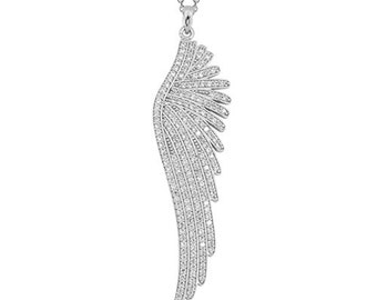 Wing 14k Solid Gold Necklace Angel Wing White Gold Rose Gold Yellow Gold