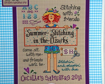 Summer Stitching In The Ozarks By Sue Hillis For Cecilia's Samplers Cross Stitch Pattern Leaflet 2011