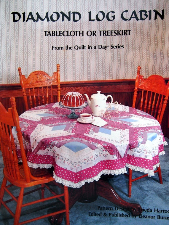 Diamond Log Cabin Tablecloth Or Tree Skirt By Eleanor Burns