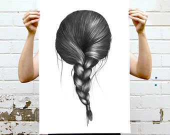 ArtPRINT Affiche à encadrer / 30 x 42 cms / Dessin original imprimé chambre
