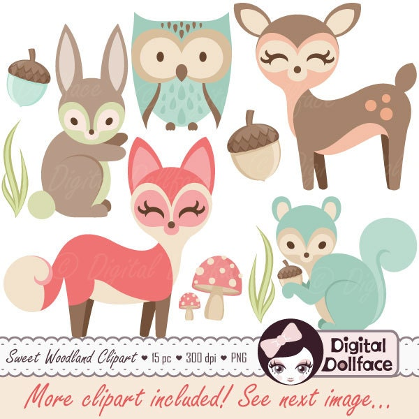 Baby forest animals clipart - photo#14