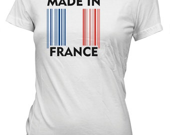 Made in France Flag Barcode T-Shirt for Juniors