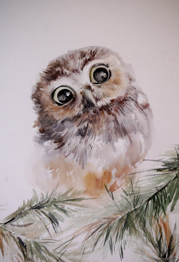 Unavailable Listing on EtsySimple Owl Painting