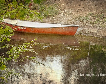 Landscape Photography, Fine Art Photography - Red Canoe