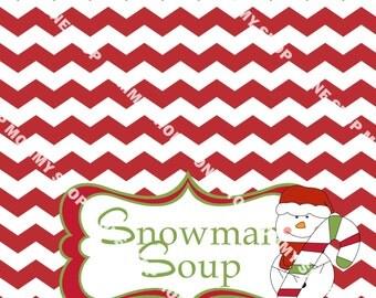 Snowman Soup  Printable Bag Topper