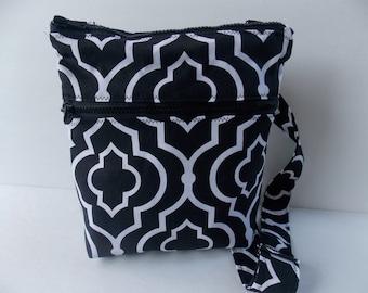 Geometric Crossbody Bag Messenger/Canvas Messenger Bag/Cross Body Bag with Adjustable Strap/women Crossbody Purse/Travel Bag