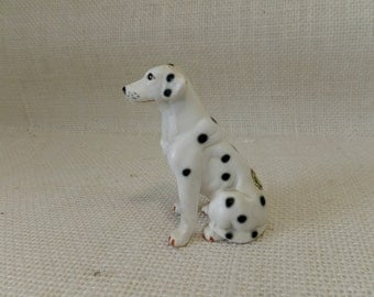 Dalmatian Porcelain Figurine Hand Painted - Taiwan - Stately and Regal
