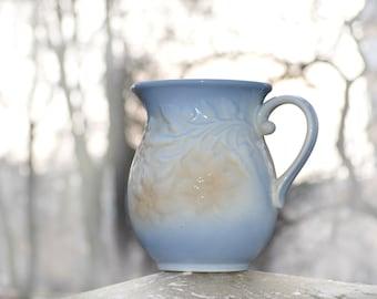 Ceramic Jug, Pastel blue and beige, Water Pitcher, large jug, large pitcher, Ceramic  pitcher, Ceramic Water Jug, Stoneware Pitcher