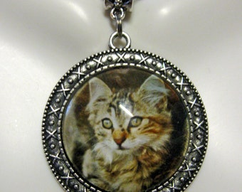 Just relaxiing cat pendant with chain - CAP26-042