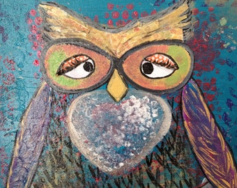 Double Vision.  Acrylics on 12x12 canvas.