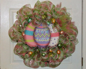 easter egg wreath easter decoration happy easter wreath