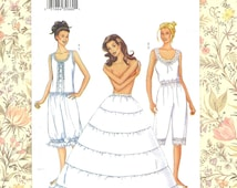 Lingerie Sewing Pattern ~ CAMISOLE PANTALOONS Hoop PETTICOAT Wedding Evening Length ~ Vintage Style Costume Undergarments Size 6 8 10
