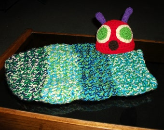 Very Hungry Caterpiller cocoon and Hat Set