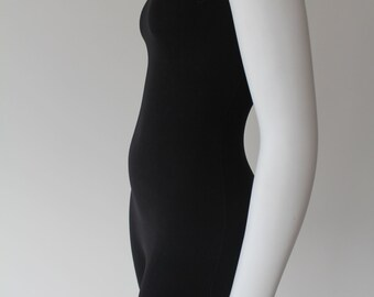 S A L E Black Health Goth One Piece 90's  Work Out Bodysuit