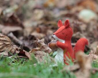 Squirel - waldorf toy - stuffed animal sewn from wool felt