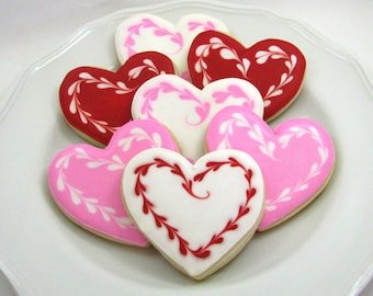 Valentine Heart Cookies-One Dozen