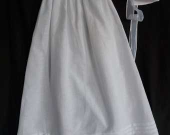 Christening Gown with Bonnet with Tucks and Lace Trim