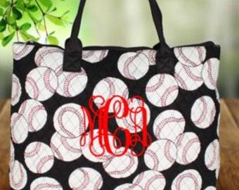 Personalized Large Baseball  purse/handbag/tote