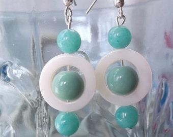 Mod Aqua Earrings