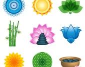 Lotus Flower Vector Spa Collection Vector Logo Elements