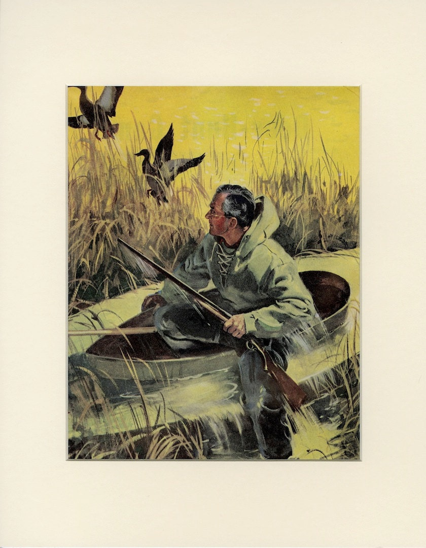 Https Www Etsy Com Listing 206182755 Vintage Duck Hunting Print South Jersey