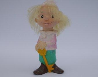 Vintage Soviet Era Children's Toy Pinocchio Rubber Buratino
