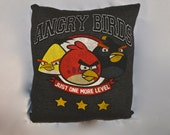 Up Cycled T Shirt Pillow - Angry Birds