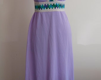 60's Lilac Maxi Dress