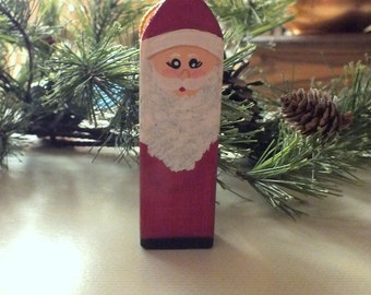 Santa Claus the Jolly Old Elf Wood Ornament