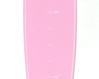 Pink Surfboard-shaped growth chart