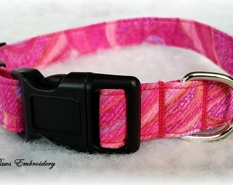 Pretty in Pinks Adjustable Dog Collar