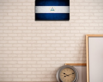 Nicaragua Canvas Flag (w/ Free Shipping!)