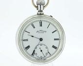 Waltham Coin Silver Pocket Watch