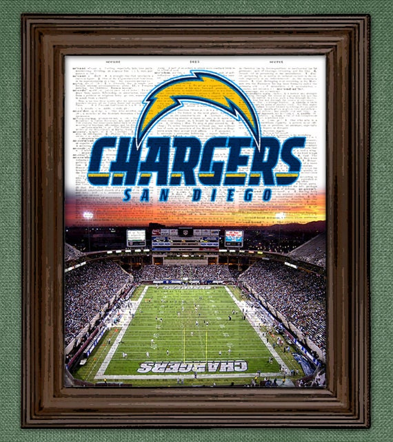 San Diego Chargers Drawings: San Diego Chargers Dictionary Art Print By