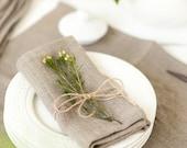 Softened linen napkins set of 6 - Linen napkins - Gray napkins - Organic napkin cloths - Thanksgiving napkins - Rustic linen napkins
