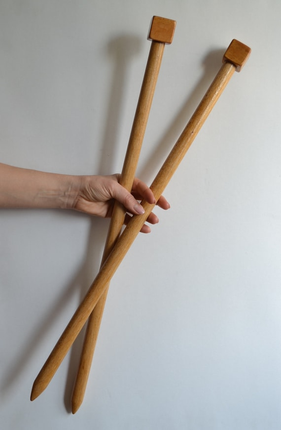 Extreme knitting needles SIZE 50 25 mm 22.8 inch 58 cm by CRAFFT