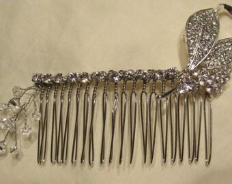 Swarovski Crystal & Brooch Hair Comb/ Handmade/ Handcrafted/ Bride