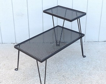 Hairpin Legs Metal End Table Black Mid Century Modern