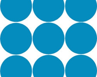 Polka dots 4-inch size, 9 per sheet - you choose the color!
