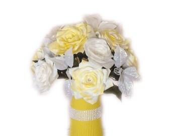 Yellow Wedding centerpieces, Wedding decorations, Quinceanera, Baby Shower decor, Bridal Shower decor, Silk flowers, Fake flower, home decor