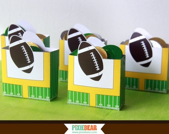 Football Party Favor Box - Football Birthday Favor Box - Football Favors - Football Decorations - Favor Box Template (Instant Download)