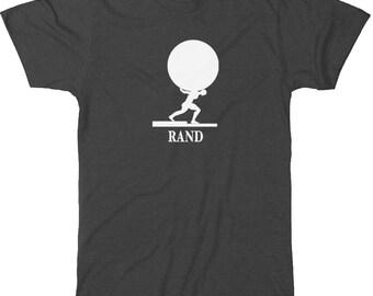 Literary T-Shirt Ayn Rand: Atlas Shrugged Book Art Gift for Book Lover - Teacher Bookish Apparel - Literary Gift - Who is John Galt