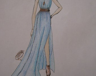 fashion sketch art print