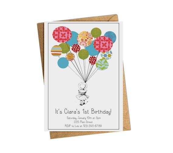 Digital Birthday Invitation. Custom Children's Party Invitation