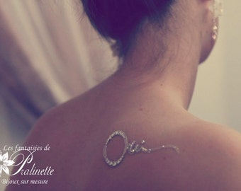 "Bijou de peau mariage oui - Bridal skin jewel ""oui"""