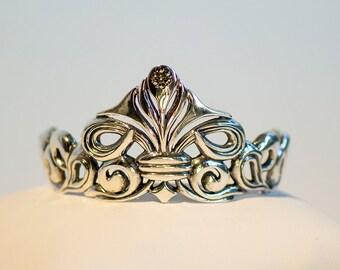 BJD-size Tiara/ Headpiece, Sterling silver, handmade