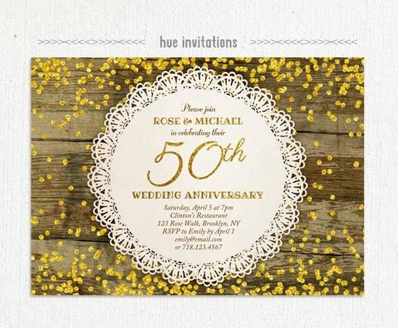 50e anniversaire de mariage invitation
