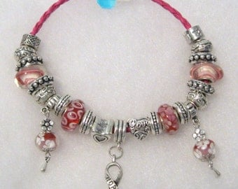 541 - CLEARANCE - Think Pink - Breast Cancer Awareness Bracelet