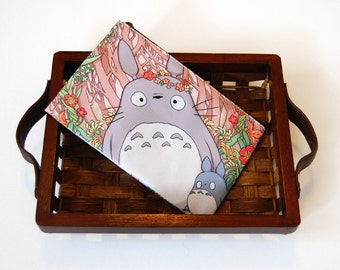 Flower Crown Totoro Zipper Bag