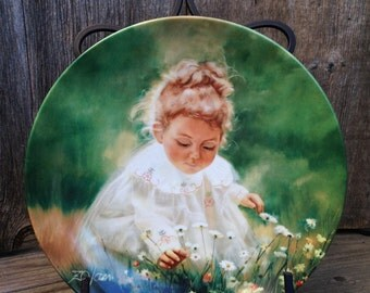 Spring Innocence Second in the Wonder of Childhood Plate by Donald Zolan 1983